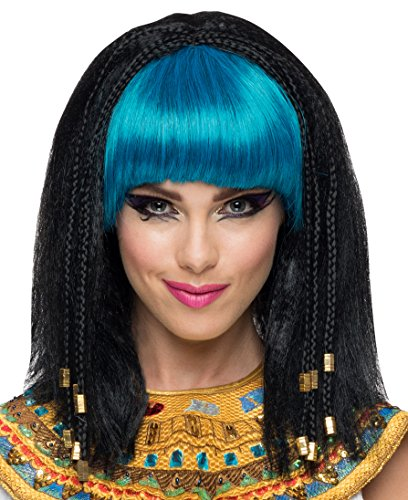 Rubie's Costume Co Women's Egyptian Princess Wig Black Turquoise