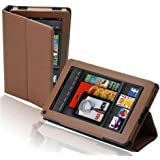 splash SAFARI Slim-Profile Leather Case Cover fits the Amazon Kindle FIRE with Stand BROWN