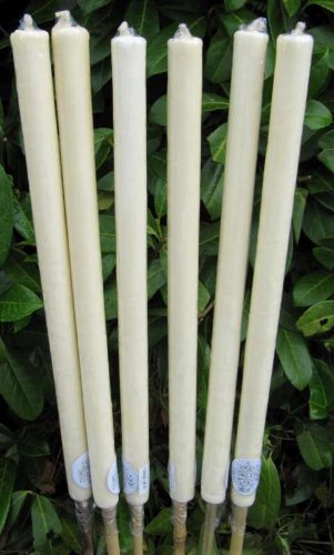 6 x Cream Citronella Outside Garden Candle 72cm on Bamboo Stick Citronella Oil Scented Candle works as a Natural Mosquito Repellent Great for Outdoor Parties Wedding Candles