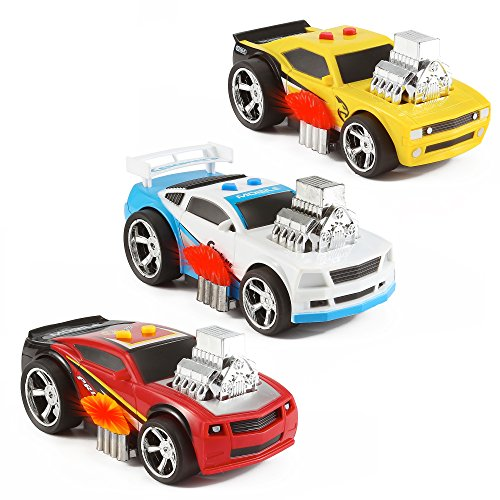 3-in-1 Hot Rod Muscle Race Car Vehicle Toy PlaySet w/ Forward Drive Motion, Lights & Sounds (Hot Rod Toy Cars compare prices)