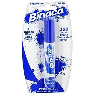 Binaca Breath Spray Peppermint (Pack of 6)