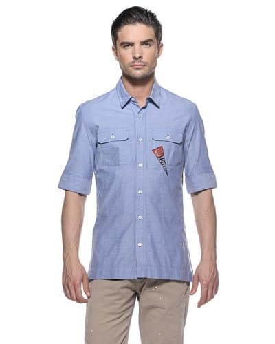 Love Moschino Camicia Manica Corta [Blu]