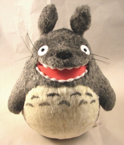 "Studio Ghibli My Neighbor Totoro 10"" Big Totoro Barking Plush with a Pink Open Mouth By Sun Arrow K-6350 by Sun Arrow"