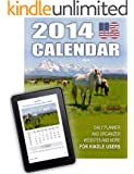 2014 US Calendar - Daily Planner and Organizer, Websites and more for Kindle Users