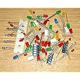 Praktiker-Sortiment: 100 Leds in allen Farben, allen Formen, blau weiß gelb grün rot orange *** LED Sortiment *** (elpohl)