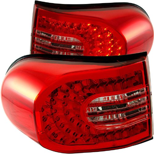 Anzo Usa 311182 Red/Clear Led Tail Light For Toyota Fj Cruiser