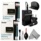 (2 Pack) NP-FV70 Battery and Charger Kit for SONY Camcorders HDR-CX190 HDR-CX210 HDR-CX220 HDR-CX230 HDR-CX260 HDR-CX290 HDR-CX380 HDR-MV1 HDR-PJ200 HDR-PJ230 HDR-PJ260 HDR-PJ380 HDR-PJ430 +MORE - Includes: 2 Vivitar Ultra High Capacity Rechargeable 2300mAH Li-ion Batteries + AC/DC Vivitar Rapid Travel Charger + Cleaning Kit + MagicFiber Microfiber Lens Cleaning Cloth