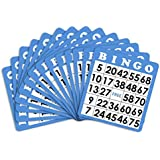 50 Blue Bingo Cards With Unique Numbers By Royal Bingo Supplies Model XGBIN-202 Spoorting Goods Shop