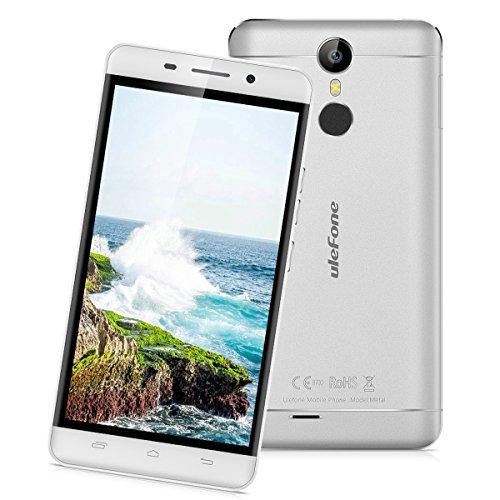"Ulefone Metal - 4G Smartphone Libre Multitáctil Android 6.0 (Pantalla HD 5.0"", 1.3GHz MT6753 Octa Core, 3GB RAM 16GB ROM, 8.0MP Cámara, GPS, WIFI, Touch ID, Dual SIM) (Plateado)"