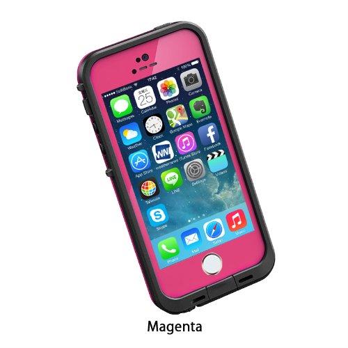 日本正規代理店品・保証付LIFEPROOF 防水防塵耐衝撃ケース LifeProof fre iPhone5/5s Magenta マジェンタ 2101-03
