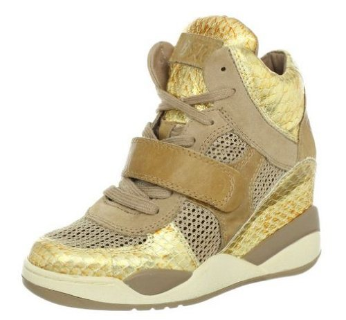 Ash Women's Funky Fashion Sneaker,Ant Gold/Chamois,41 EU/11 M US