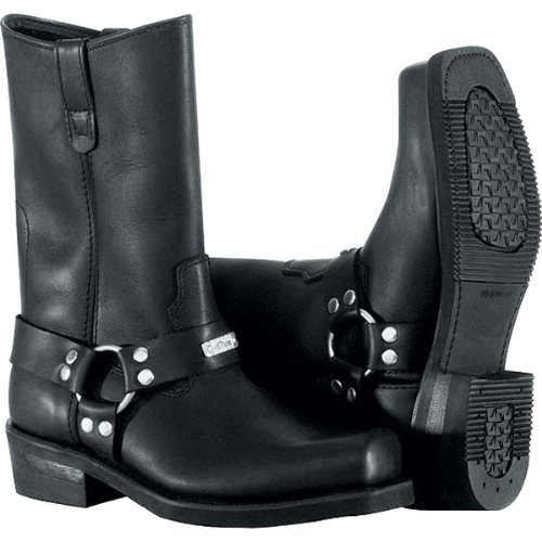 River Road Mens Traditional Square Toe Harness Black Boot - 11