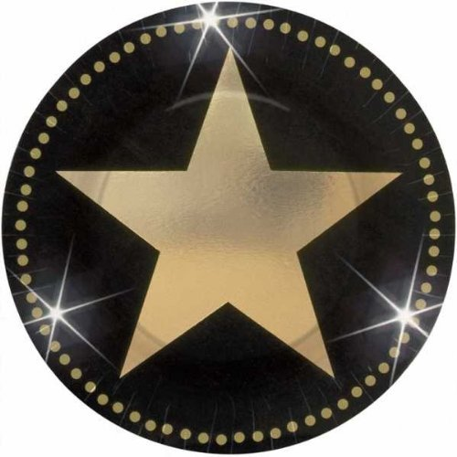 amscan-international-177-cm-paper-plates-hollywood-pack-of-8