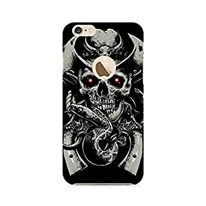 Motivatebox- Skull Fear Premium Printed Case For Apple iPhone 6/6s with hole -Matte Polycarbonate 3D Hard case Mobile Cell Phone Protective BACK CASE COVER. Hard Shockproof Scratch-