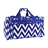 New Fashion Trendy Luggage T20 Chevron Royal Blue - 010 SWT