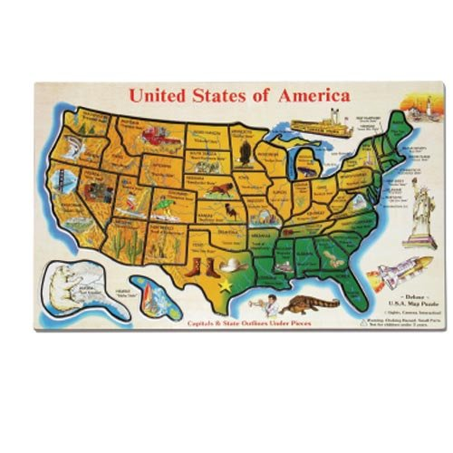 Cheap Melissa & Doug United States & The World Jigsaw Puzzles (Set Of 2) (B000GKW9VM)