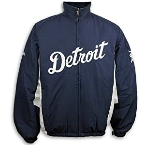 2014 Detroit Tigers LADIES Authentic Double Climate Home Jacket by Majestic Athletic