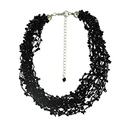 "Product Image Bead Multi-Strand Necklace- Black(18"")"
