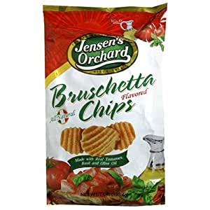 Jensen's Orchard Bruschetta Flavored Chips, 7-Ounce Bags (Pack of 12)