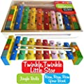Childrens Wooden Musical Instrument - Xylophone - presented in wooden box and Song Sheet included