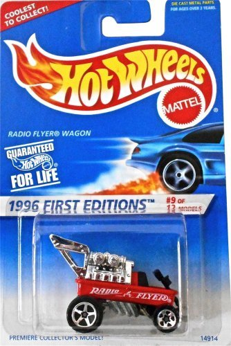 Hot Wheels 1996 First Editions Red Radio Flyer Wagon 1:64 Scale Die Cast Collector Car #374