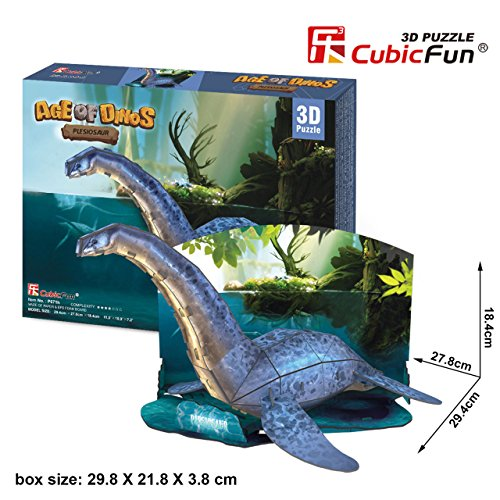 3D Jigsaw Puzzle Triceratops CubicFun 3D Puzzle P671h 38 Pieces Decorative Fashion Best Seller Cubic Fun ® Exiting Fun Educational Historic Playing Building Game DIY Holiday kids Best Gift Toy Set