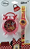 Minnie Mouse Bedroom Alarm Clock And Girls Digital Watch Set