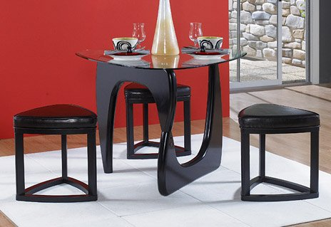 4 piece dining set in triangle glass top of chorus for 4 piece dining room set