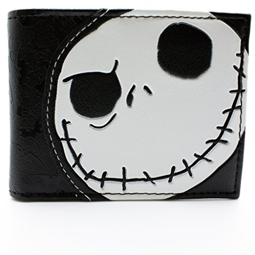 Tim Burton Nightmare Before Christmas Embossed Jack Skellington Nero portafoglio