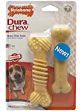 Nylabone Dura Chew Regular Chicken Flavored Textured Bone Dog Chew Toy