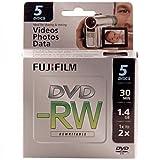 Fujifilm 25302425 1.4GB Mini DVD-RW for Camcorder (5pk)