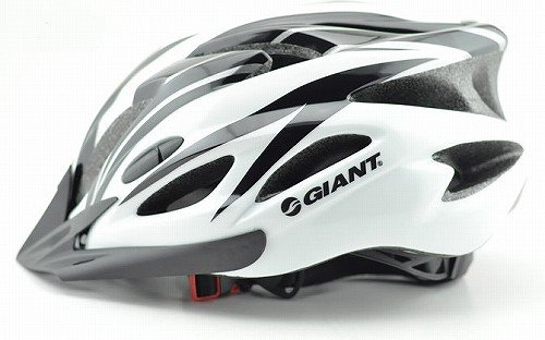 【GIANT】ジャイアント 軽量ヘルメット 白×黒 平行輸入品 頭囲57~62cm
