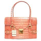 L.A.P.A. Italian Designer Handbag/Shoulder Bag in Pink Leather