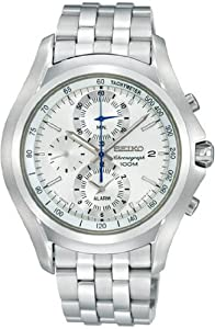 Men's Chronograph Alarm Silver Dial Stainless Steel