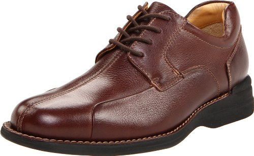 Johnston & Murphy Men's Shuler Bicycle Toe Oxford,Dark Brown,10 W
