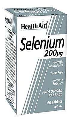 HealthAid Selenium 200ug - Prolong Release - 60 Vegan Tablets by HealthAid
