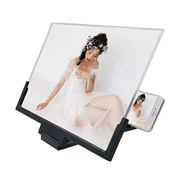 Cell Phone 3D HD Movie Video Amplifier with Foldable Holder Stand for All Smart Phones Ohbiger 8 Screen Magnifier Smartphone Magnifying Glass Anti-Radiation