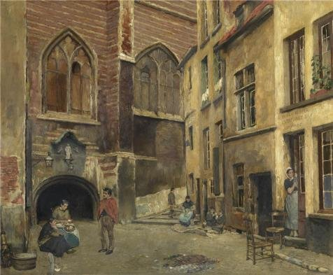 The High Quality Polyster Canvas Of Oil Painting 'Piet Verhaert,The Old Antwerp Butcher Hall,1852-1908' ,size: 20x24 Inch / 51x62 Cm ,this High Definition Art Decorative Prints On Canvas Is Fit For Home Theater Decor And Home Gallery Art And Gifts (Butcher Paper Cutter 48 compare prices)