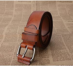 Leather Belt(brown,black,yellow,red) (Yellow)