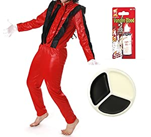 CHILDS DEAD JACKO ZOMBIE KIDS HALLOWEEN FANCY DRESS COSTUME BOYS GIRLS POPSTAR KING OF POP (LARGE 10-12 YEARS)