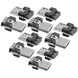 10 Pcs Micro USB Type A Male 5 Pin Connectors Jack