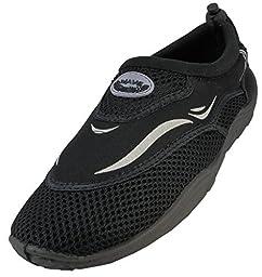 Womens Water Shoes Aqua Socks Pool Beach ,Yoga,Dance and Exercise (10, Black 1182L)