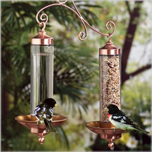 Copper Sip and Seed Wild Bird Feeder