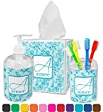 Teal Lace Toothbrush Holder
