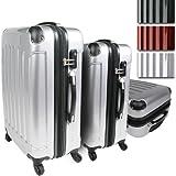 Vojagor® TRSE01silber trolley valigia set da 3 in grigio