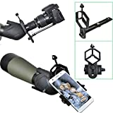 Spotting Scope Riflescope Telescope Camera Adapter Mount - Take Photos & Images With Smartphone Gopro Digital Camera Compact DSLR (Stand Size(Eyepiece Outter Diameter 1.10