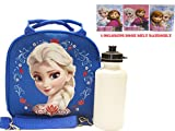 Disney Frozen Elsa Dark Blue Lunch Bag and Coloring Book