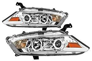 Honda Accord 2008-2010 CCFL Halo Projector Headlights Chrome (Fits: EX,EX-L Coupe 2-Door)
