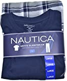 Nautica Men's T-shirt / Flannel Pajama Pant Set (Navy/gray Plaid, L)