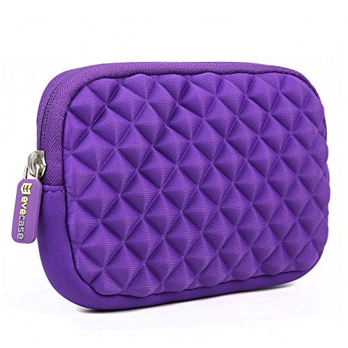 4.3-5 inch GPS Case - Evecase GPS Navigator Portable Storage Sleeve Pouch Case Bag - Purple